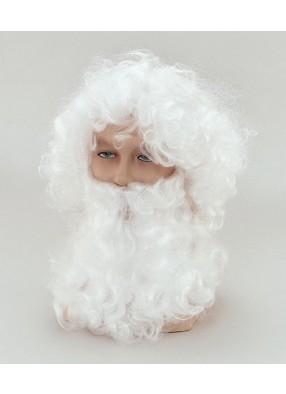 Парик и борода Деда Мороза
