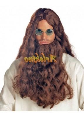 Парик и борода хиппи-странника
