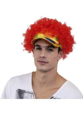 Парик кепка Клоуна кудрявый