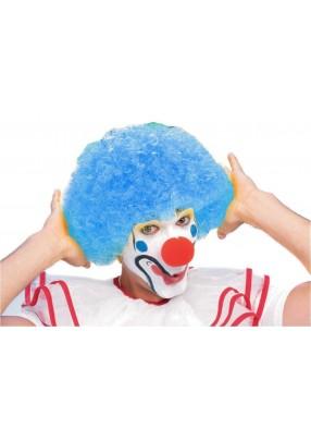 Парик клоуна голубой