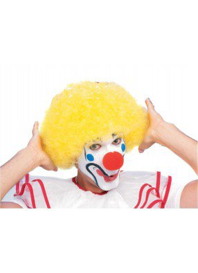 Парик клоуна желтый фото