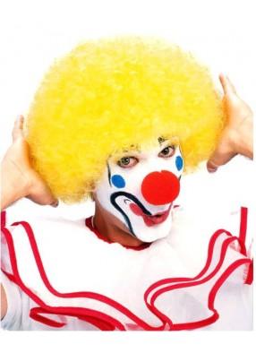 Парик Клоуна желтый взрослый