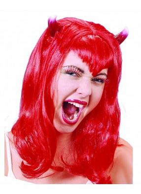 Парик леди-дьявол с рожками