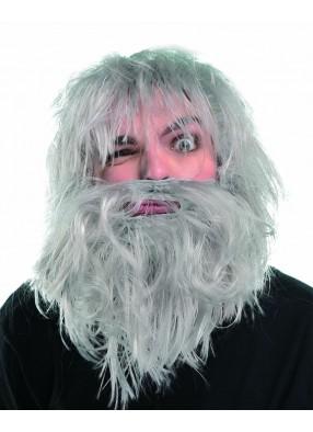 Парик лохматый старик с бородой