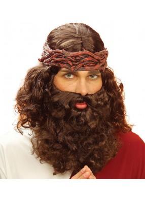 Парик пророка с бородой и венком
