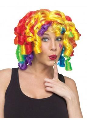 Парик радужного сумасшедшего клоуна фото