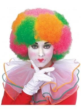 Парик разноцветного клоуна