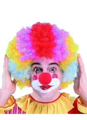 Парик веселого клоуна разноцветный
