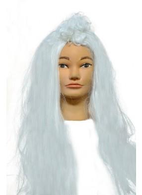 Парик волосы прямые с кудрявой челкой