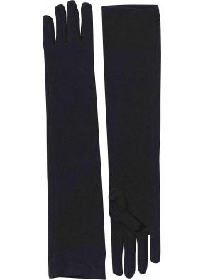 Перчатки длинные черные