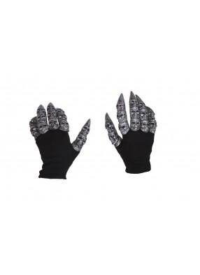 Перчатки с черепами на пальцах