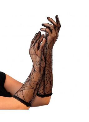 Перчатки с паутинкой