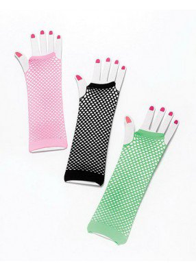 Перчатки-сетка розовые