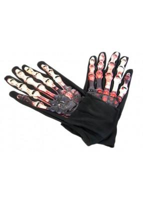 Перчатки скелета с кровью