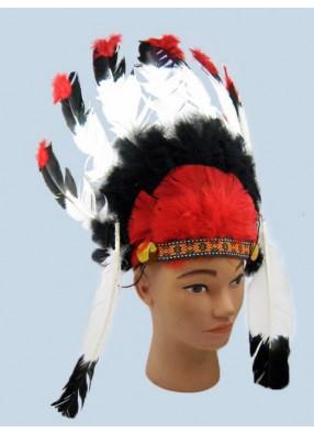 Перья индейца трехцветные