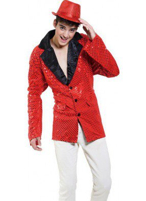 Пиджак джазовый красный