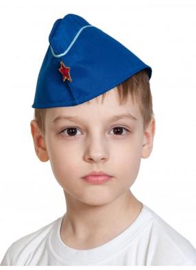 Пилотка летчика ВВС с белым кантом