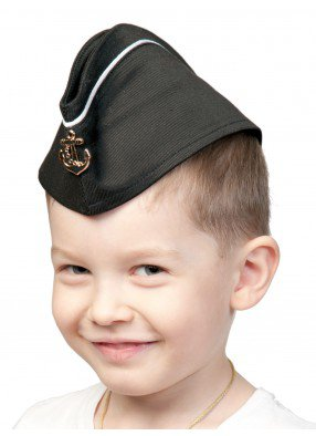 Пилотка ВМФ с кантом детская фото