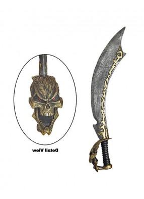 Пиратская мотыга с черепом 90 см