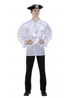 Пиратская рубашка белая фото