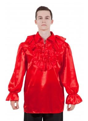 Пиратская рубашка красная фото