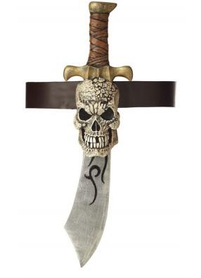Пиратская сабля с черепом