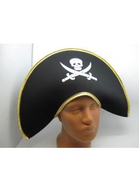 Пиратская шляпа с золотой каймой