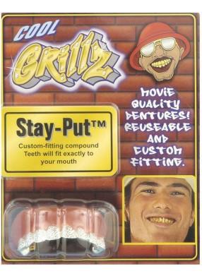 Пиратские зубы серебряные
