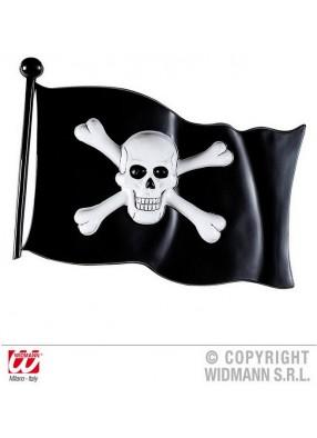 Пиратский пластиковый флаг 45 см