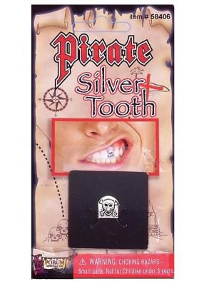 Пиратский серебряный зуб