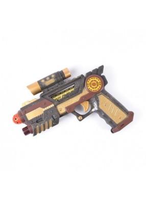 Пистолет из будущего в стиле стимпанк