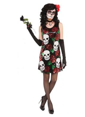 Платье Черепа и Розы