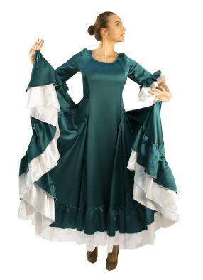 Платье Фламенко изумрудное 1 фото