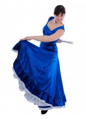 Платье Фламенко синее без рукавов