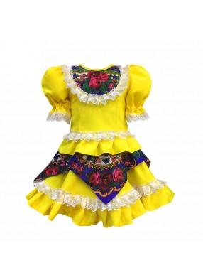 Платье кадриль желтое