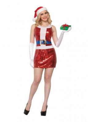 Платье мисс Санта блестящее