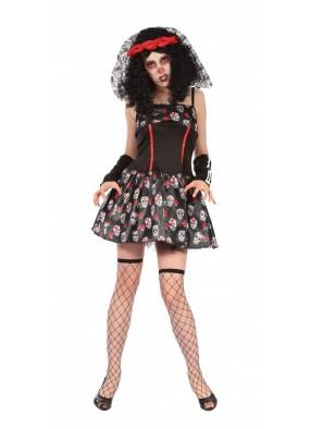 Платье с черепами на День мертвых
