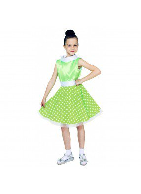 Платье стиляги для девочки салатовое фото