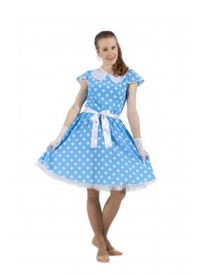 Платье в стиле 50-х голубое фото