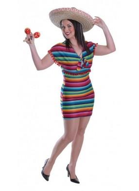 Платье зажигательной мексиканки 44-48
