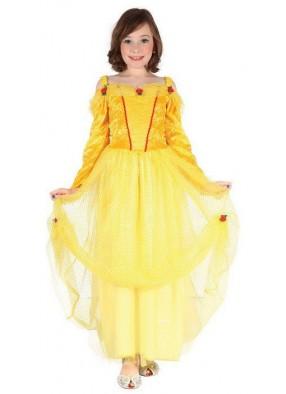 Платье золотой принцессы для девочки