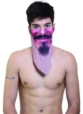Платок на лицо с усами и бородой