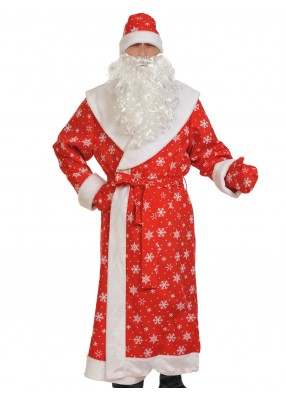 Плюшевый костюм деда мороза