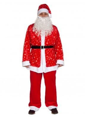 Плюшевый костюм Санта Клауса для взрослых