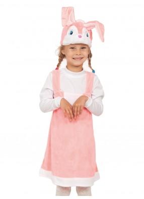 Плюшевый костюм зайки для девочки