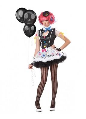Подростковый костюм темной клоунессы