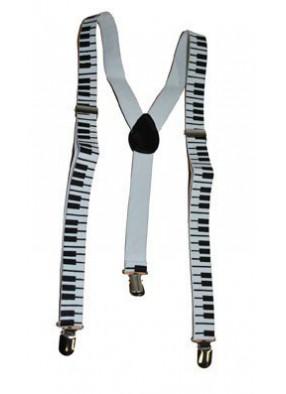 Подтяжки с рисунком из клавиш пианино