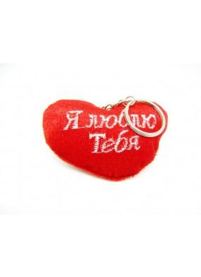 Подвеска сердечко красное