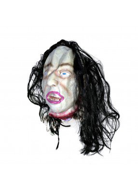 Подвесная голова с черными волосами фото