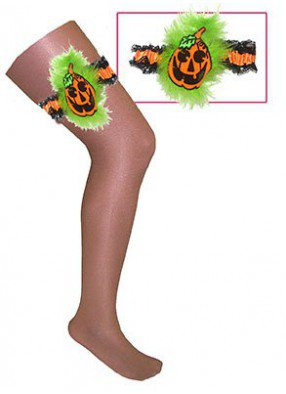 Подвязки тыквы на Хэллоуин